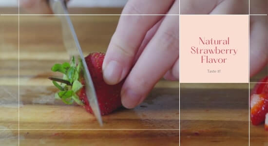 Natural Strawberry Flavor of Hello Bello Hair Skin and Nails